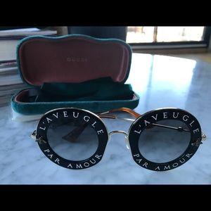 2afdd20b705 Gucci Accessories - BRAND NEW Gucci L Aveugle Par Amour Sunglasses